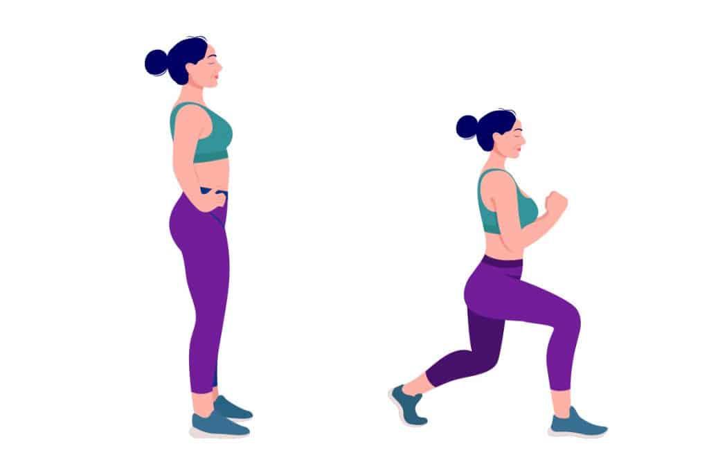 Vježbe za razgibavanje - iskorak