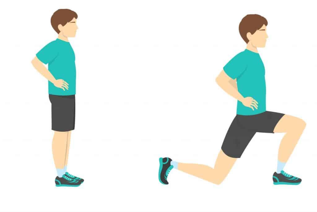 Vježbe za koljeno iskorak